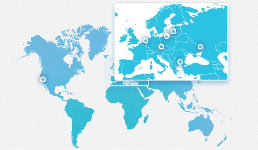 Friendhosting 数据中心分布图