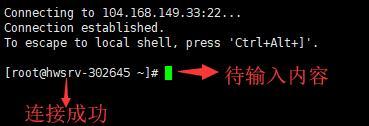通过Xshell进行Linux SSH连接成功的示例图