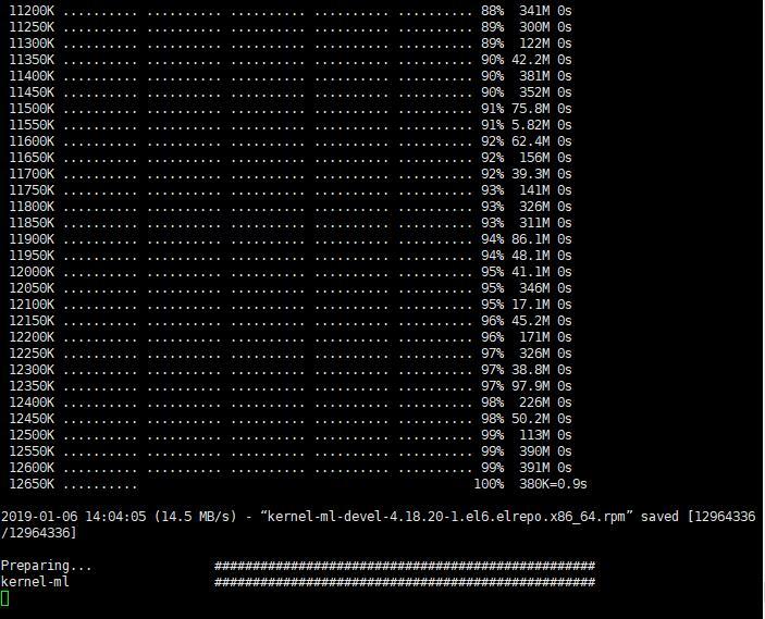 SRR 搭建并使用BBR加速 - 命令输入确认执行中等待图