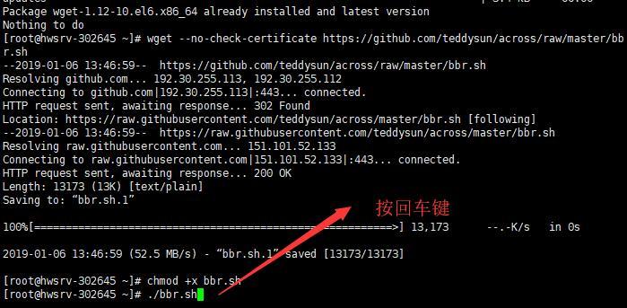 SRR 搭建并使用BBR加速 - 命令输入