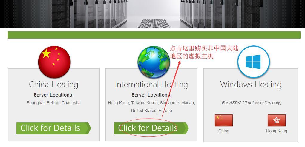 台湾虚拟主机SinoHosting新购购买教程 - 选择国外的虚拟主机