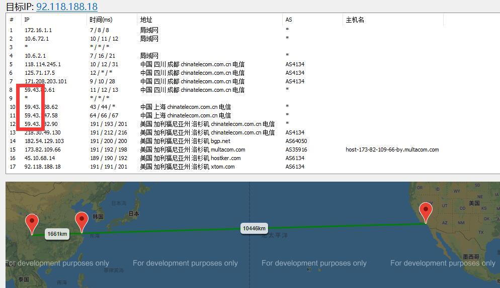 LOCVPS美国VPS路由线路测试