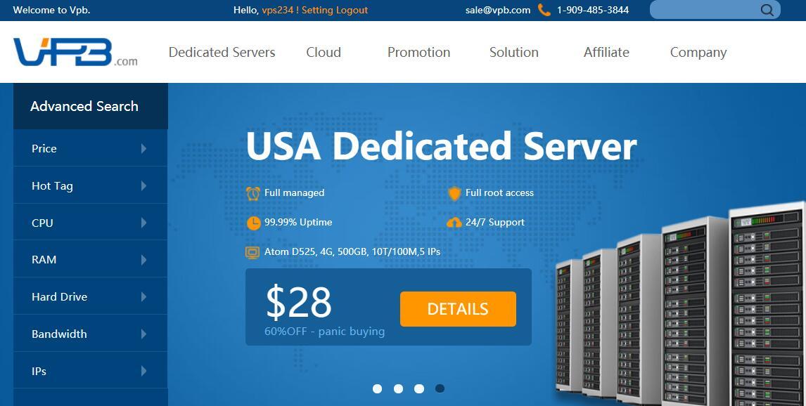便宜美国独立服务器推荐 - VPB