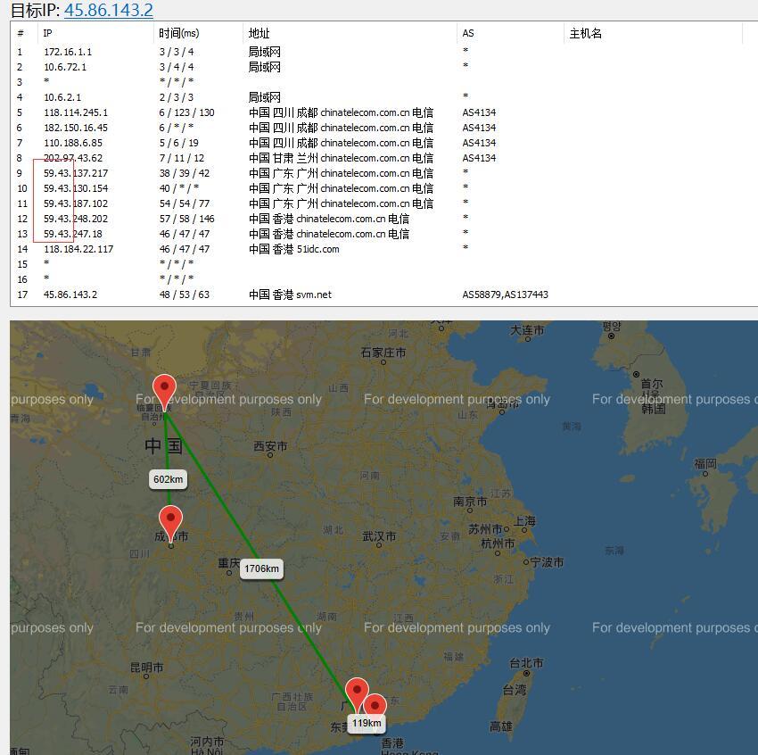 10gbiz香港站群服务器路由延迟测试