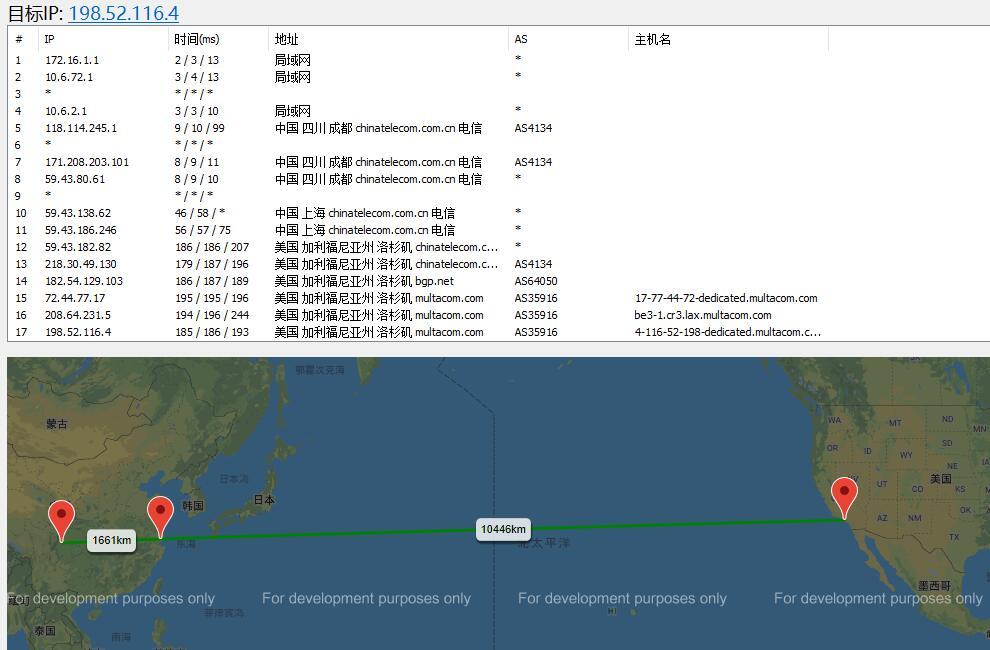 CloudCone CN2 GIA美国服务器路由测试