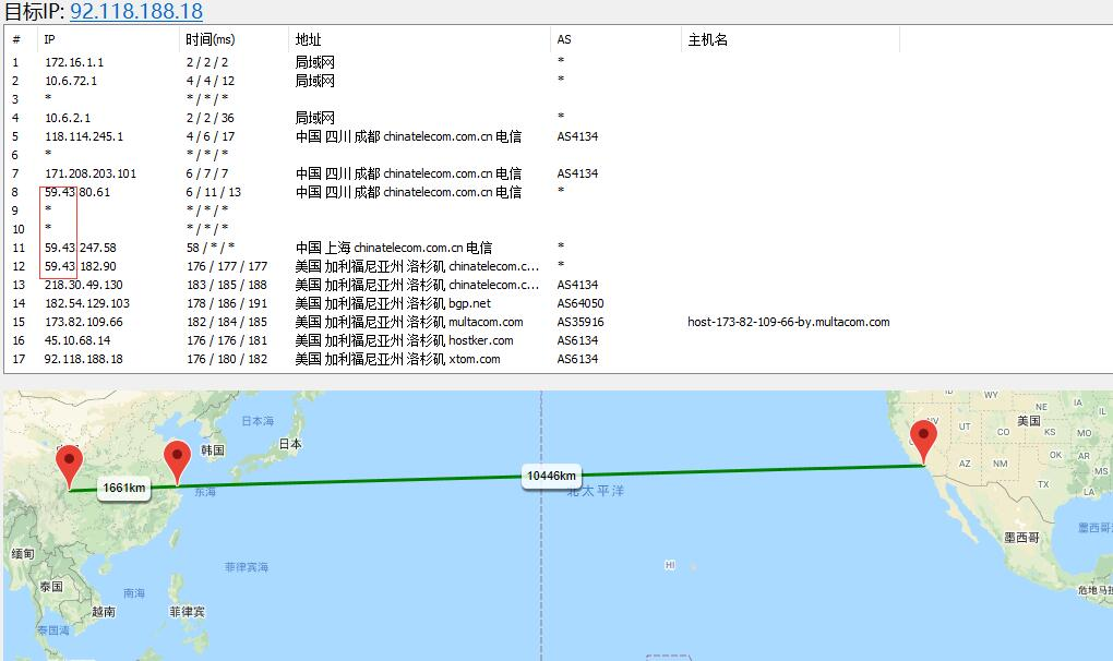 HostKVM美国VPS CN2 GIA线路路由测试