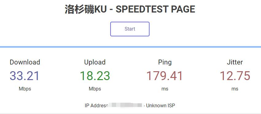 HostKVM美国VPS联通优化线路速度测评