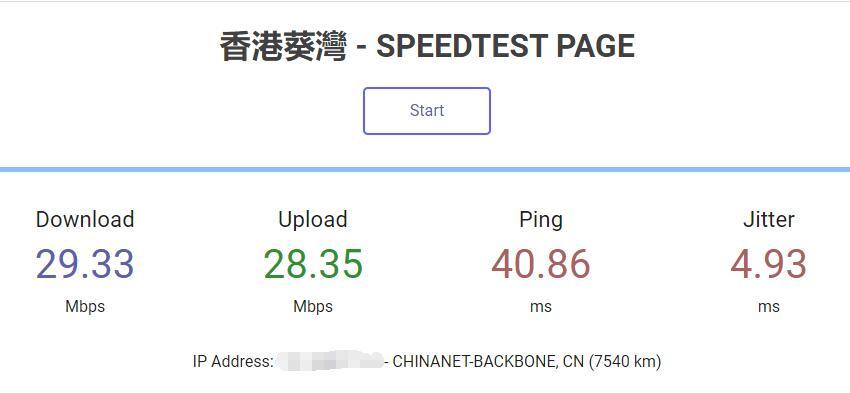 HostXen香港VPS速度测试