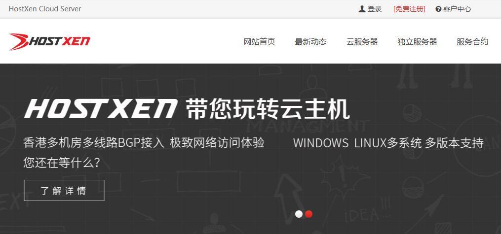 HostXen香港VPS详细测评