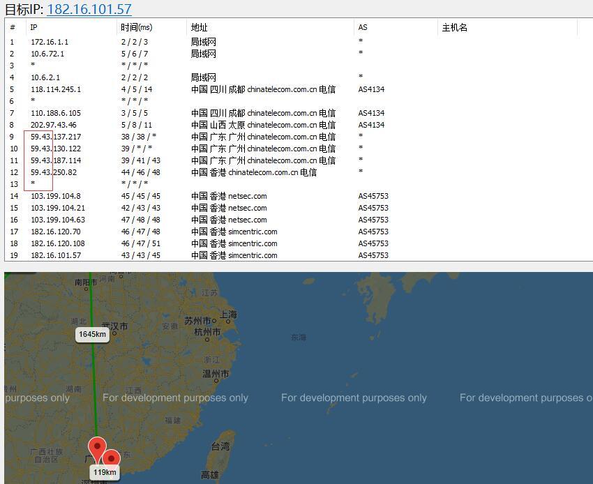 亚洲云端香港VPS去程路由