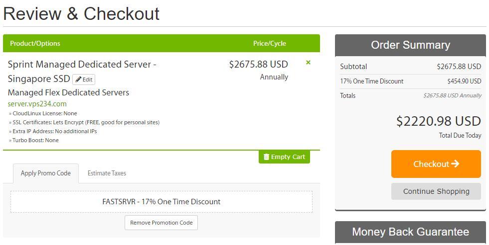 A2Hosting 新加坡独立服务器购买 - 优惠码页面