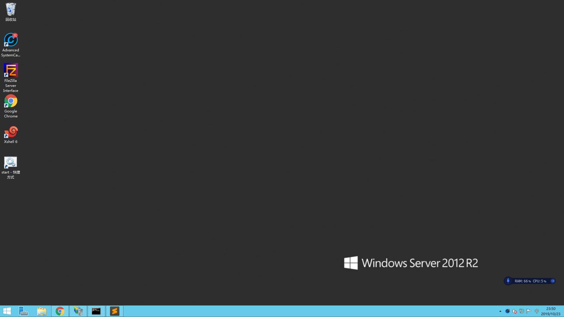 Windows VPS 远程操作界面