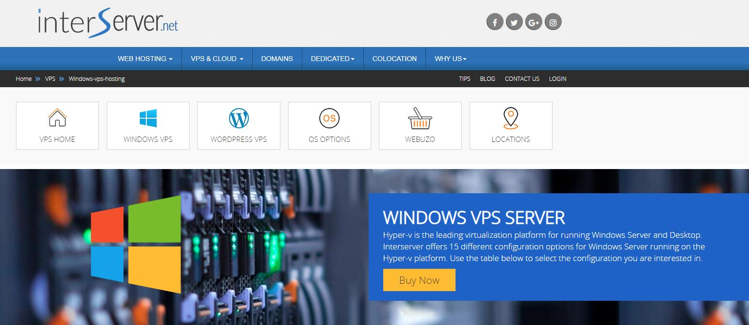 美国 Windows VPS - InterServer