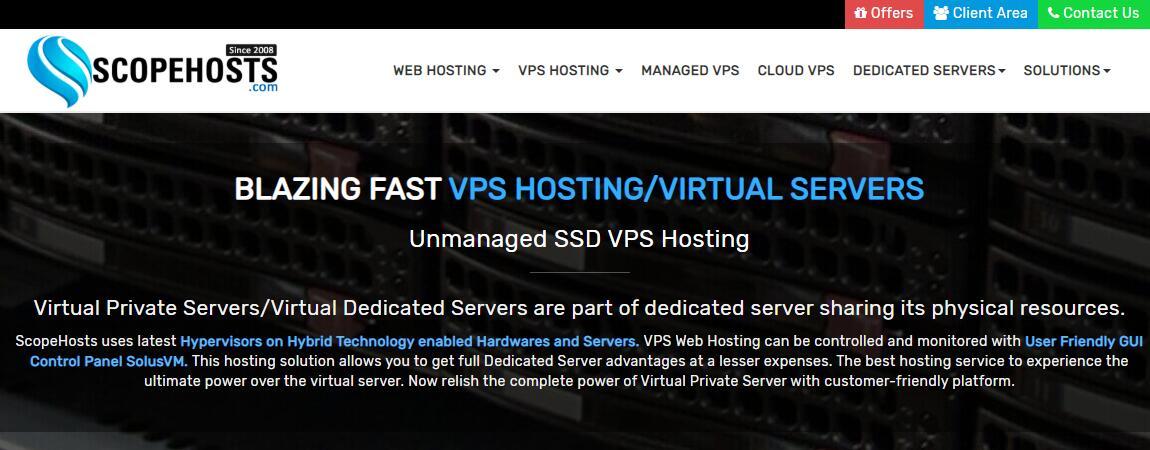 高性能欧洲VPS ScopeHosts 推荐 - Linux / Windows 支持