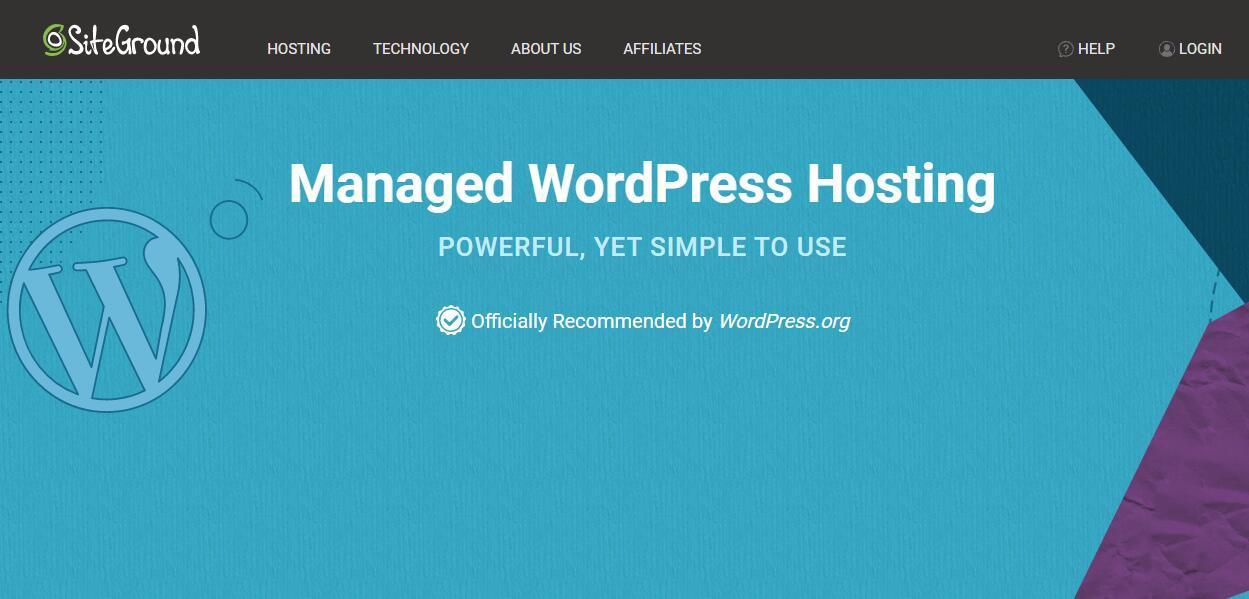 SiteGround WordPress主机推荐