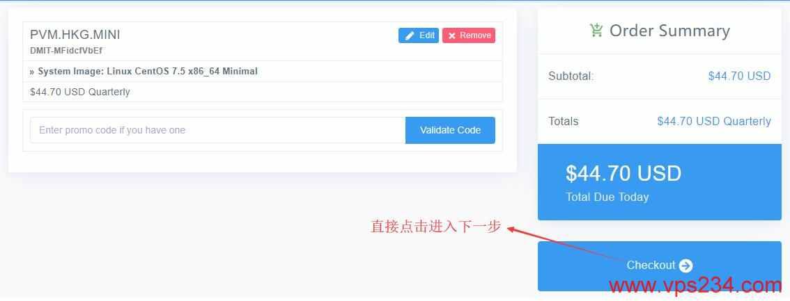 香港VPS DMIT购买填写优惠信息