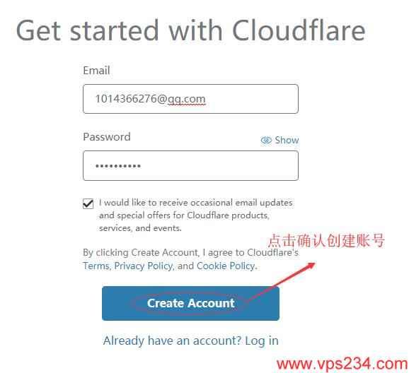 cloudflare 设置 - 创建用户