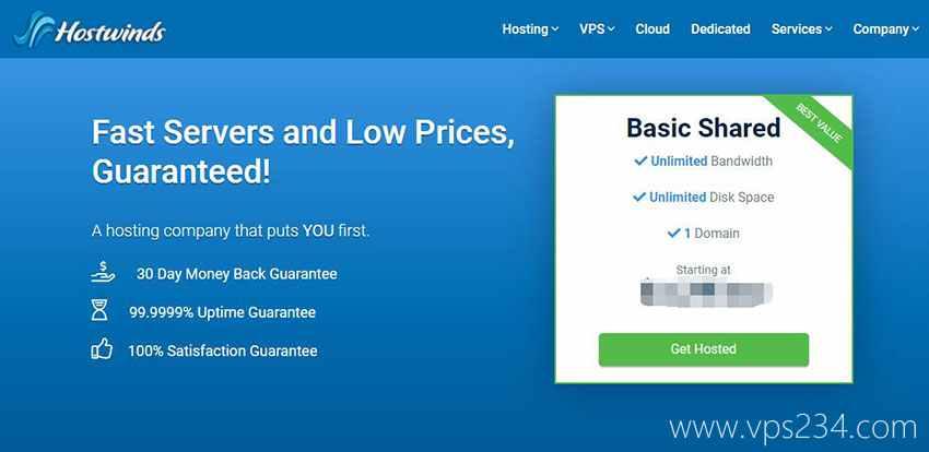 Hostwinds美国VPS - 替代Vultr