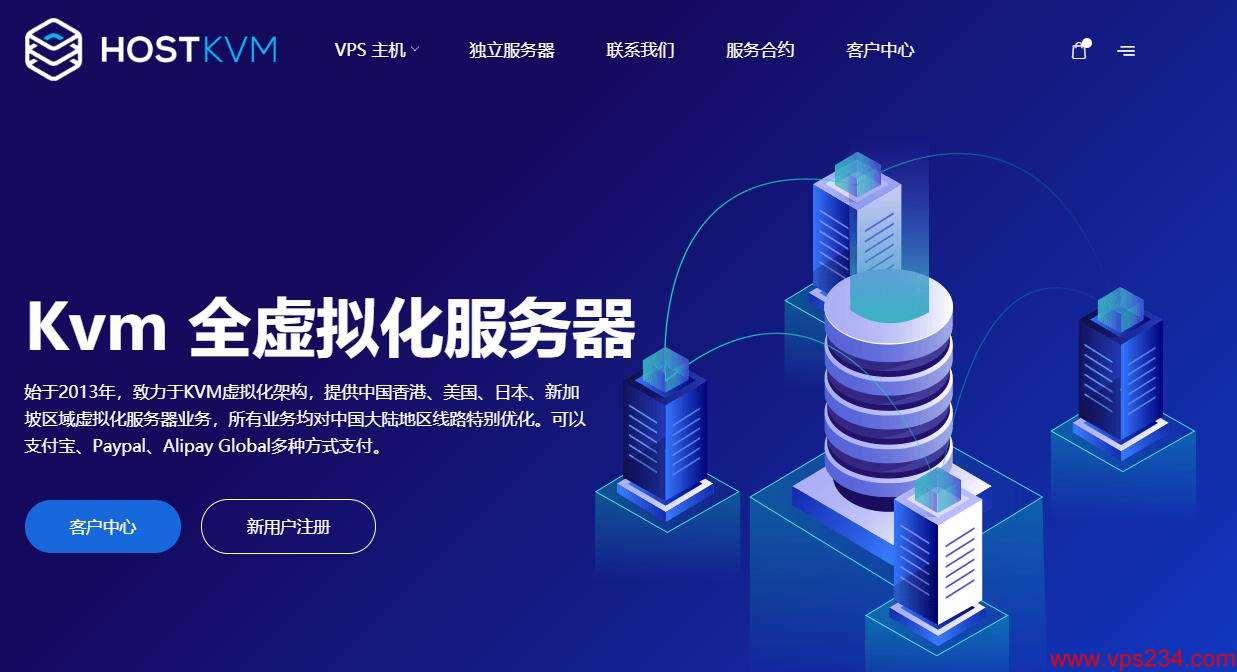 国外VPS HostKvm 推荐 香港CN2线路支持