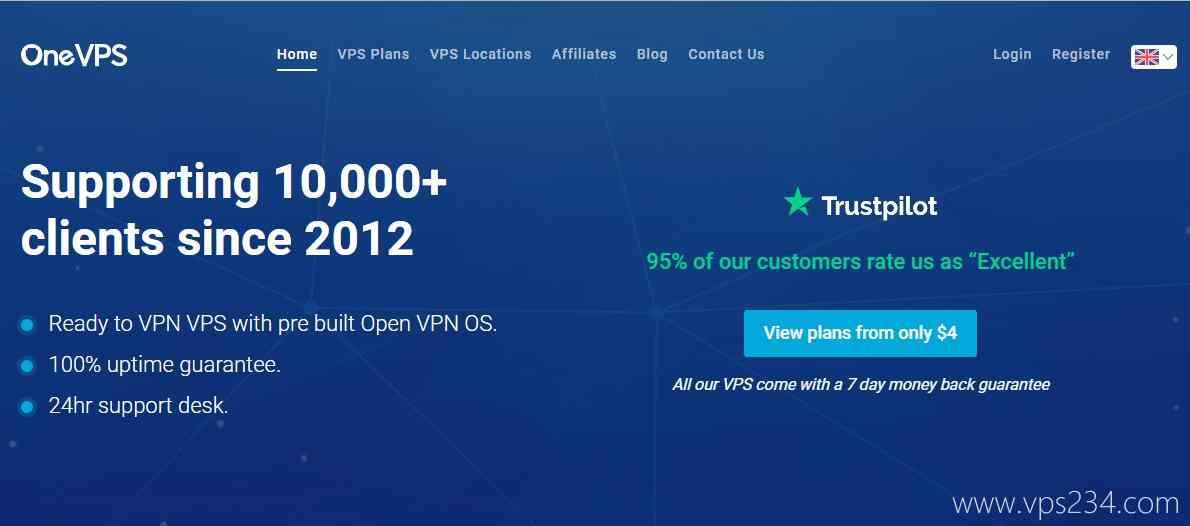 日本VPS - OneVPS 1000M带宽速度快