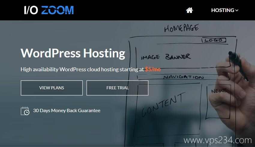 国外WordPress主机 I/O Zoom 推荐 - 速度快 - 稳定性高