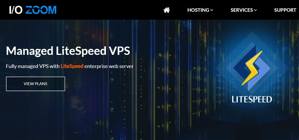 I/O Zoom 建站VPS推荐 - LiteSpeed Web服务器 - 速度超快