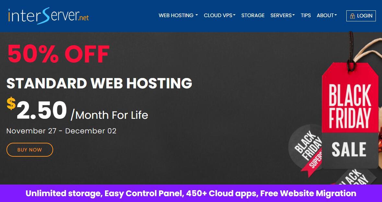 InterServer美国主机黑五5折优惠 - 终身2.5美元/月