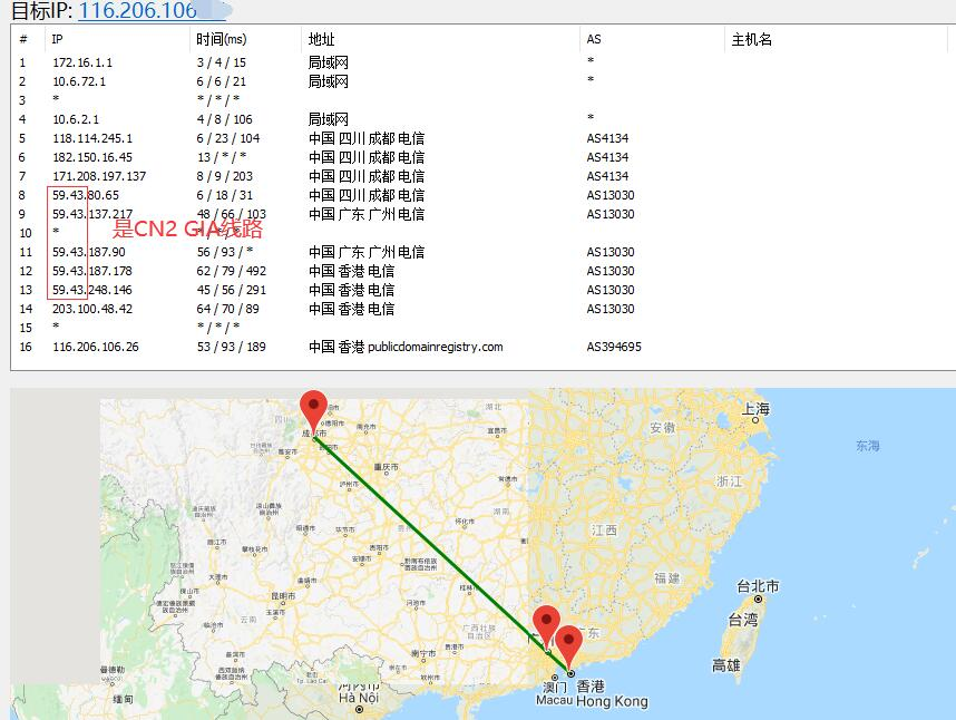 bluehost香港主机路由线路测试