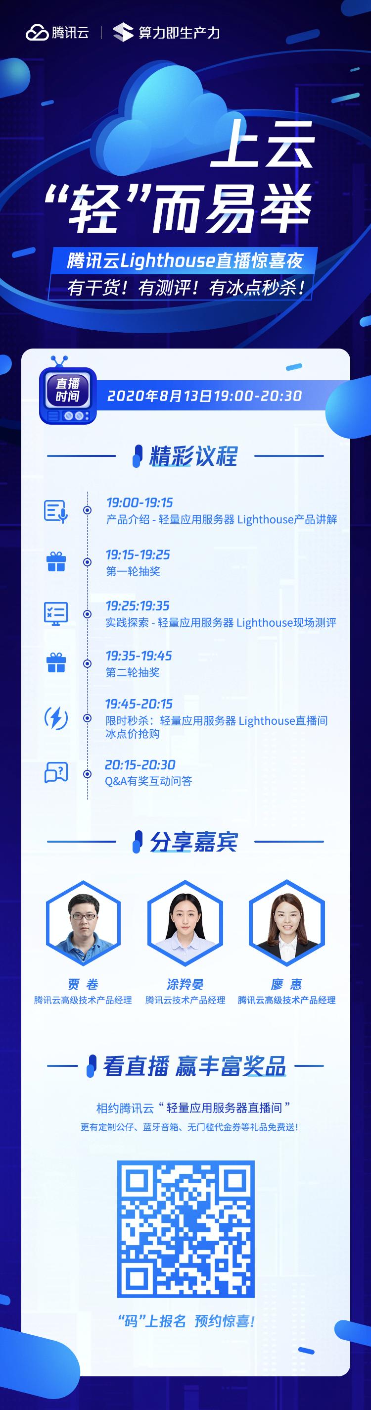 腾讯云轻量应用服务器Lighthouse活动环节内容