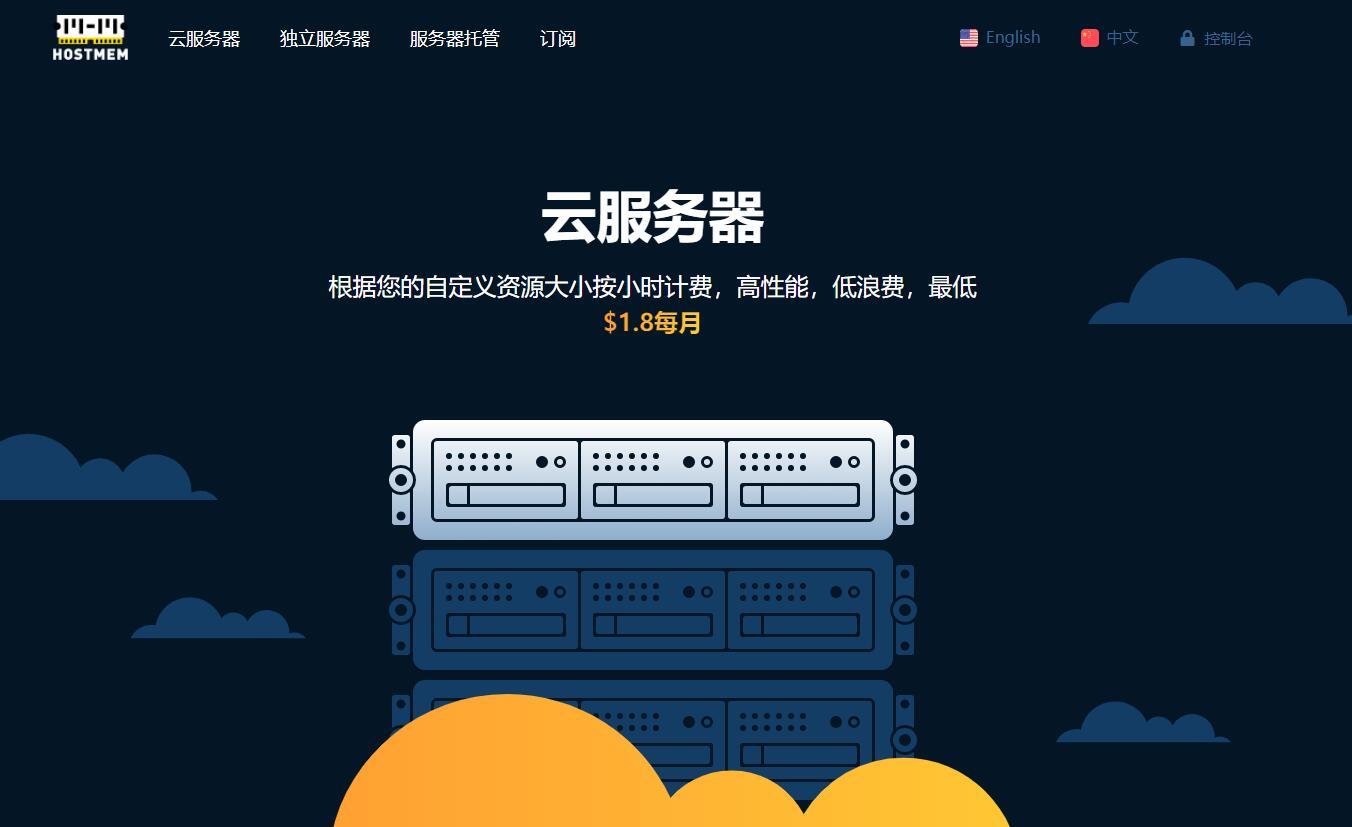 Hostmem - 免费换IP CN2 VPS推荐