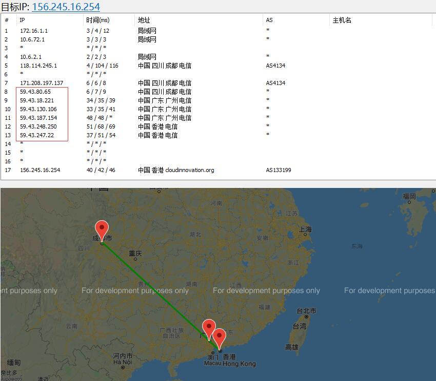 恒创主机香港VPS路由线路