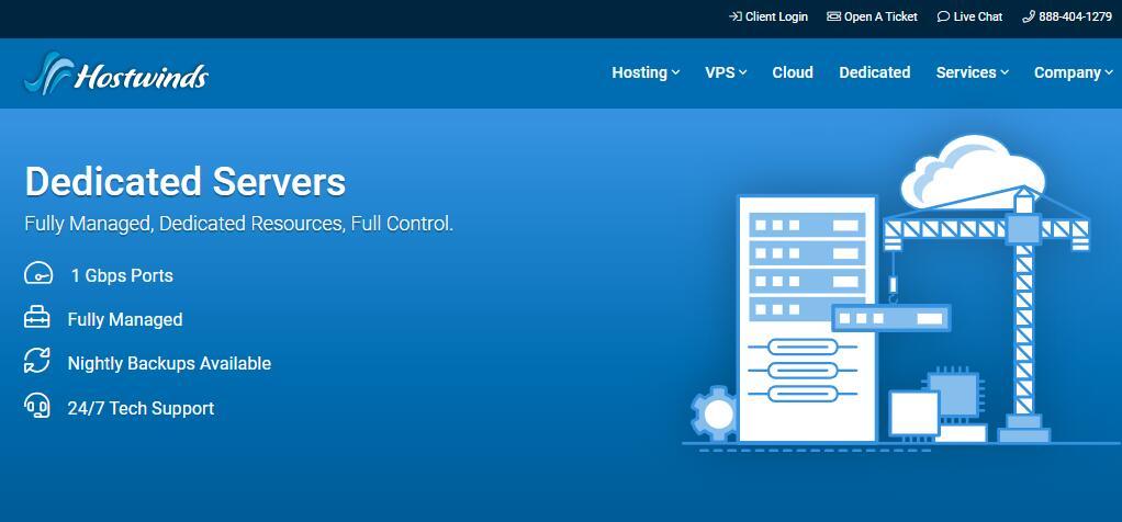 Hostwinds美国独立服务器推荐