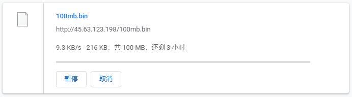 Vultr日本(东京)下载速度效果图