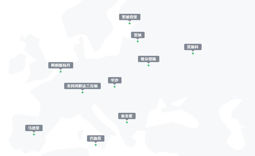 Melbicom欧洲数据中心分布图