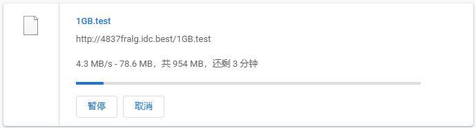 白丝云德国VPS服务器下载速度测试