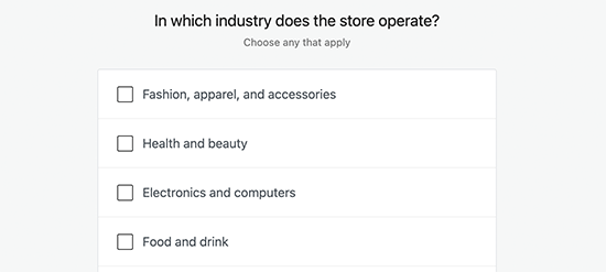 选择店铺行业