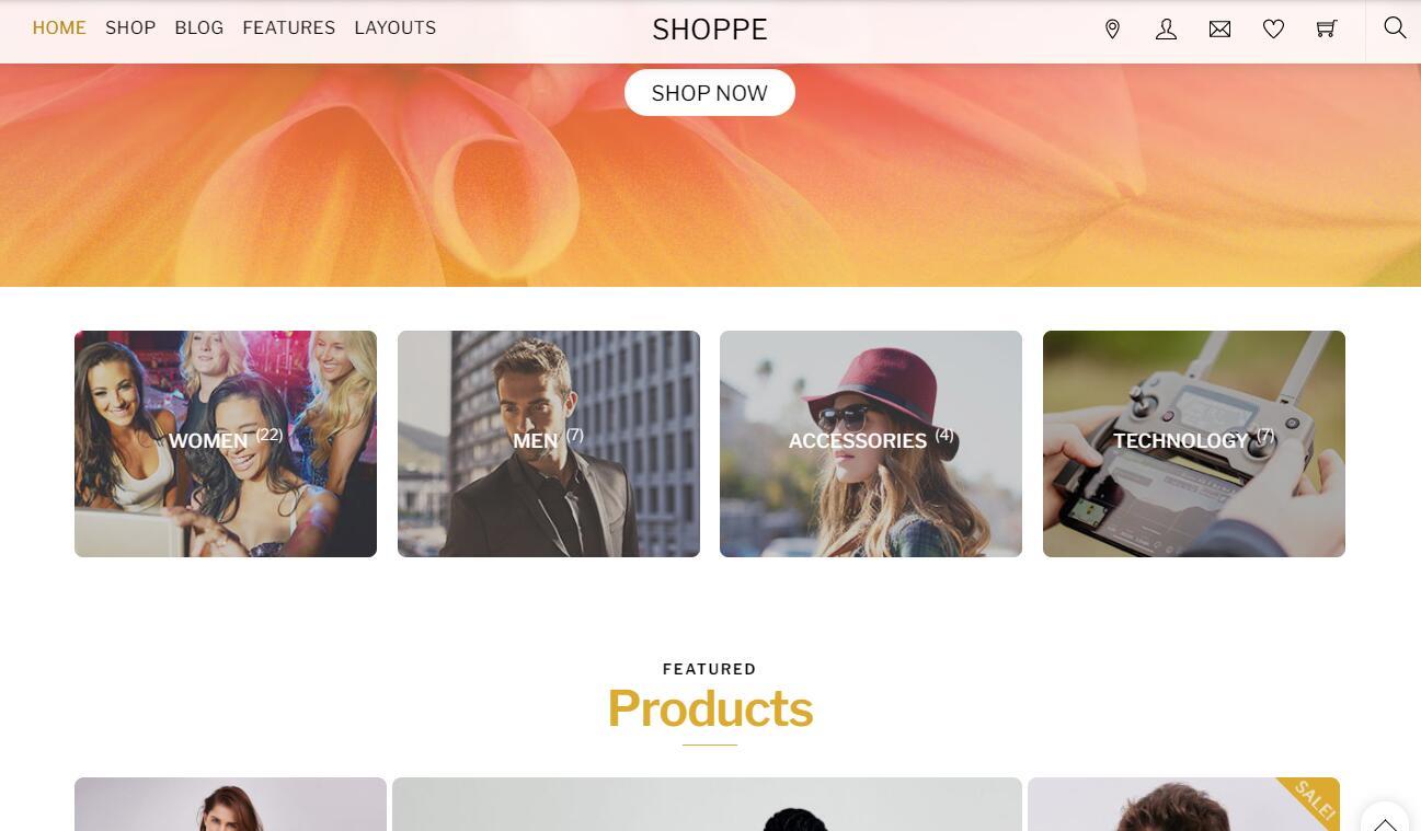 WooCommerce主题 - Shoppe