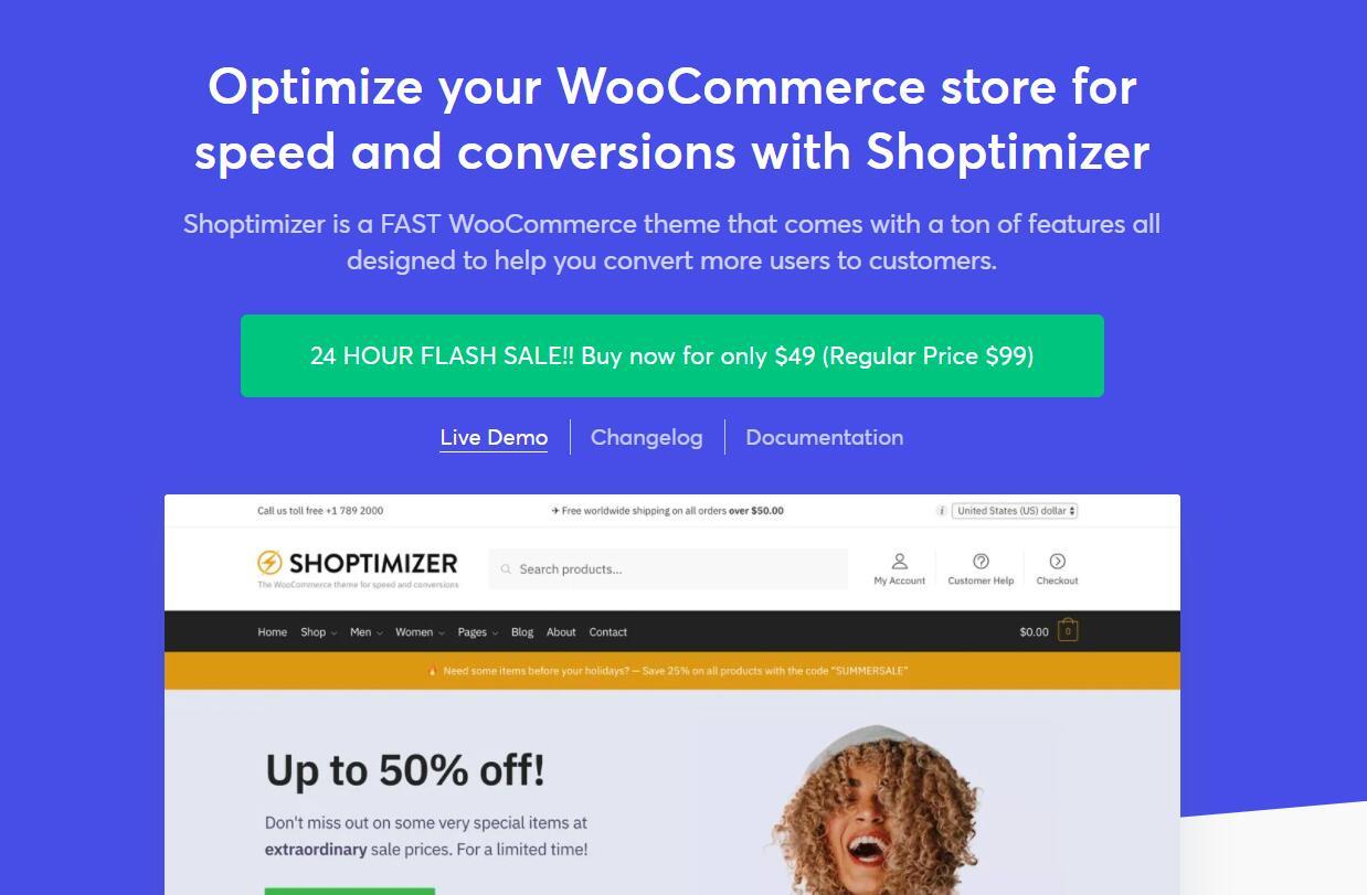 WooCommerce主题 - Shoptimizer