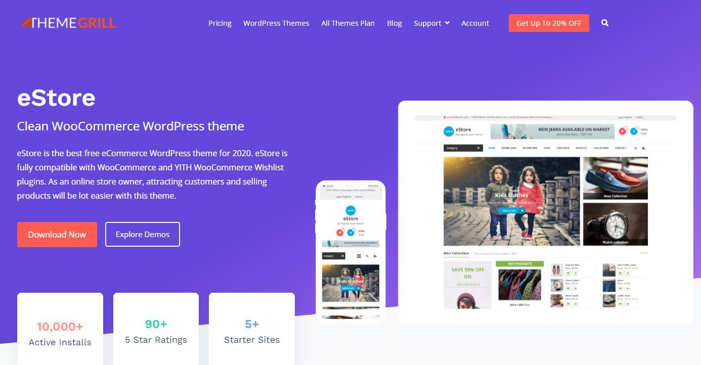 WooCommerce主题推荐 - eStore