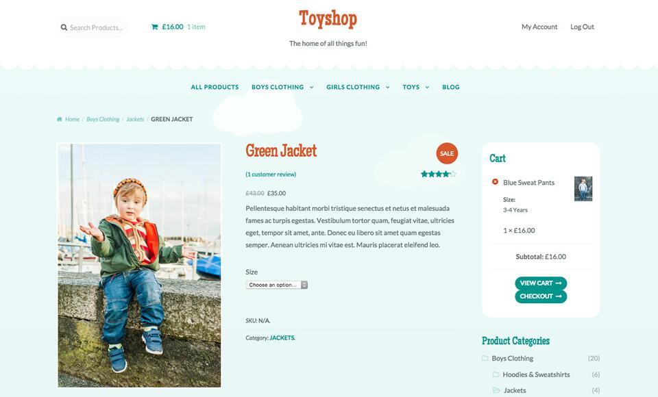 WooCommerce主题推荐 - Toyshop
