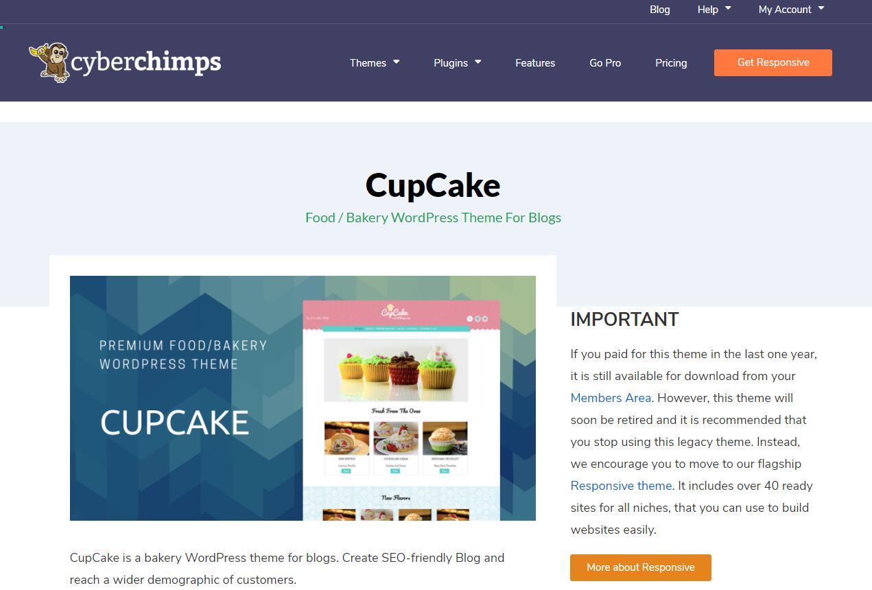 WooCommerce主题 - Cupcake