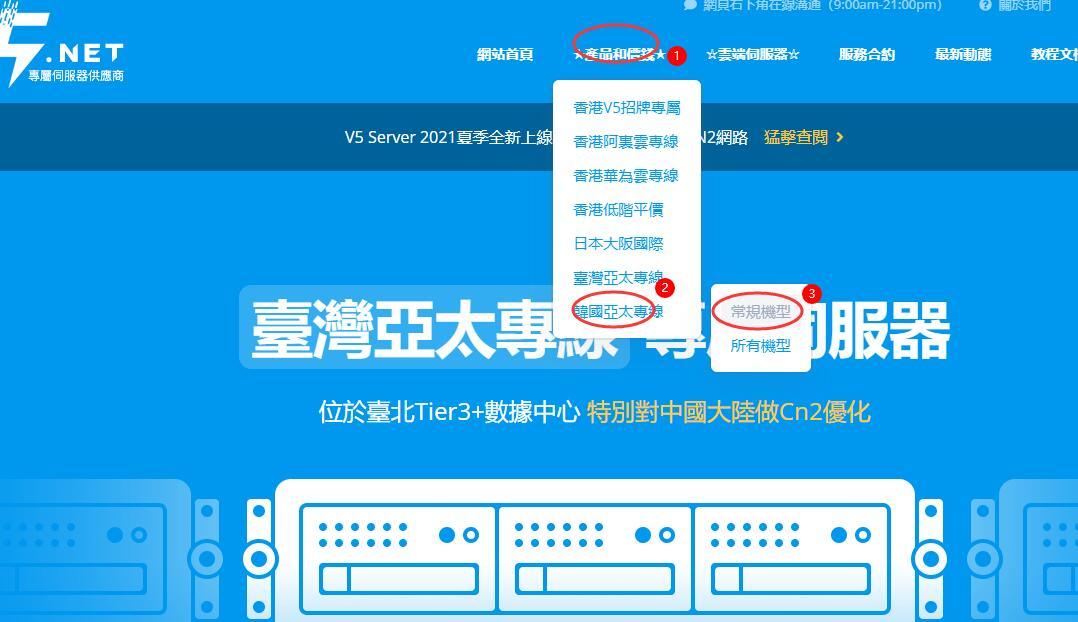 V5.NET韩国独立服务器购买教程