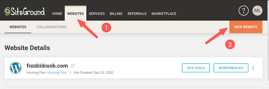 WordPress安装 :使用 SiteGround 新增一个 WordPress 网站