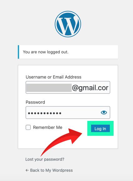 网站建设 :wordpress 后台登录