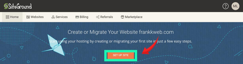 网站建设教程 :SiteGround,点击网站设计