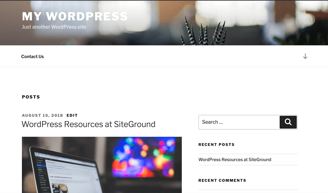 WordPress 网页设计完成