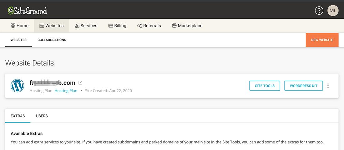 网站建设 :SiteGround网站搭建