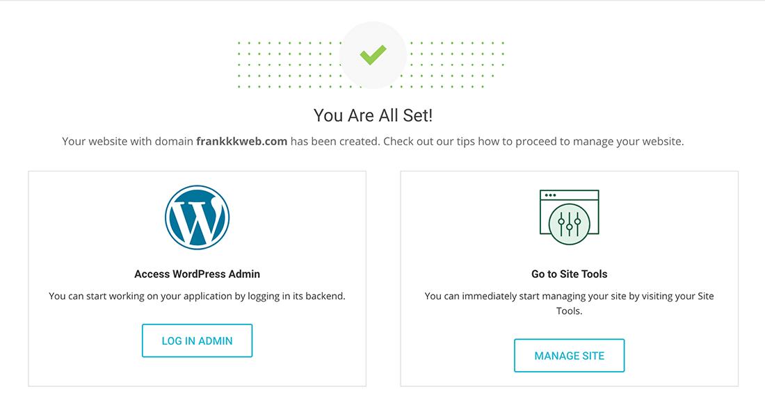 wordpress网站安装成功