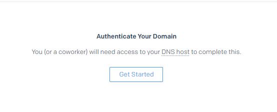 外贸网站搭建教程 - SendGrid邮件服务器 Authenticate Your Domain