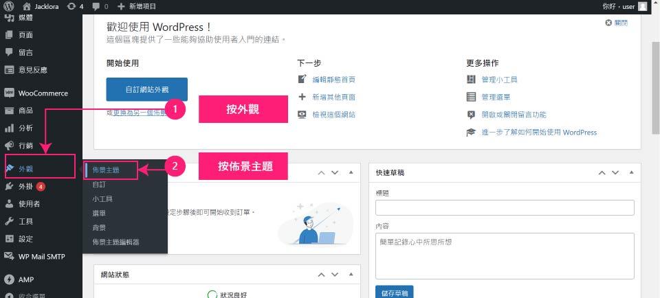 外贸网站搭建教程 - WordPress主题设置